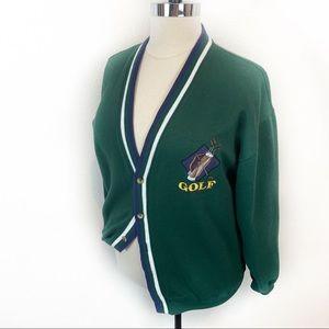 Vintage Oversize Dad Golf Letterman Style Jacket